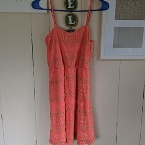 Buckle brand lace coral dress.